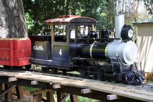 "Backyard Train ride trains on your 7.5"" gauge backyard railroad - live steam size"